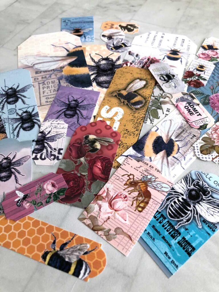 Free Printable Bee Ephemera Cut Out