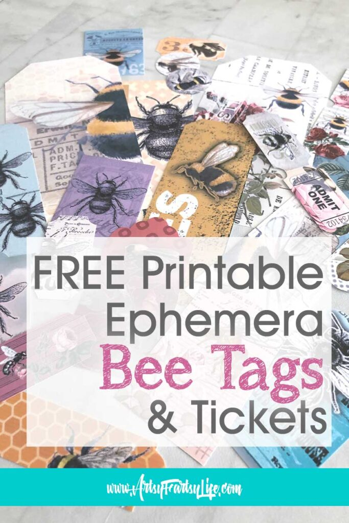 Free Printable Ephemera - Bee Tags & Tickets