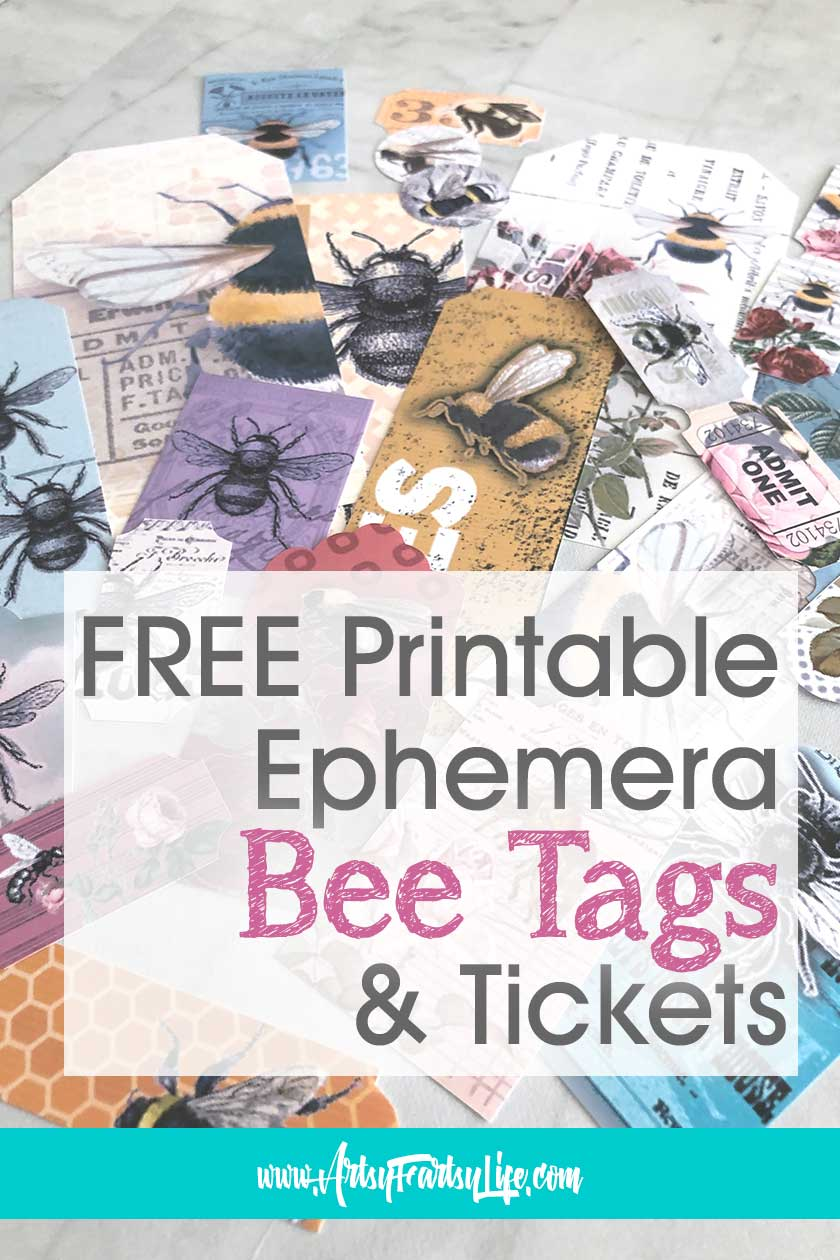 Free Printable Ephemera - Bee Tags & Tickets