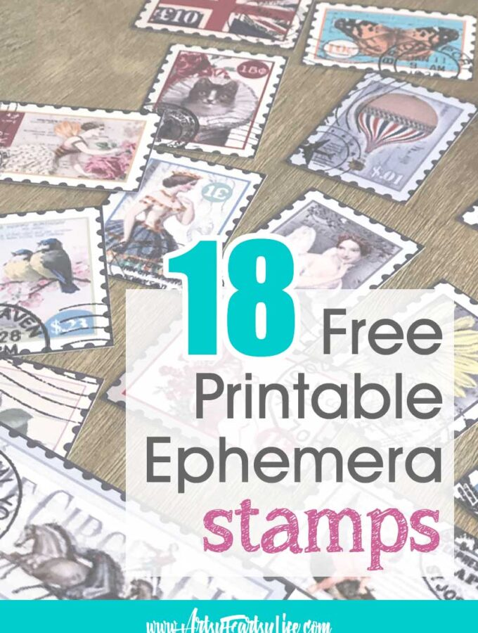 Free Printable Ephemera - Vintage Stamps