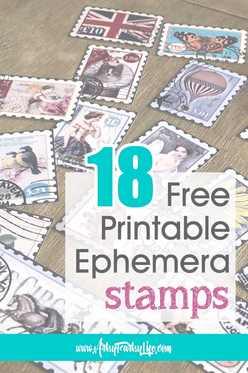 Free Printable Ephemera - Vintage Stamps