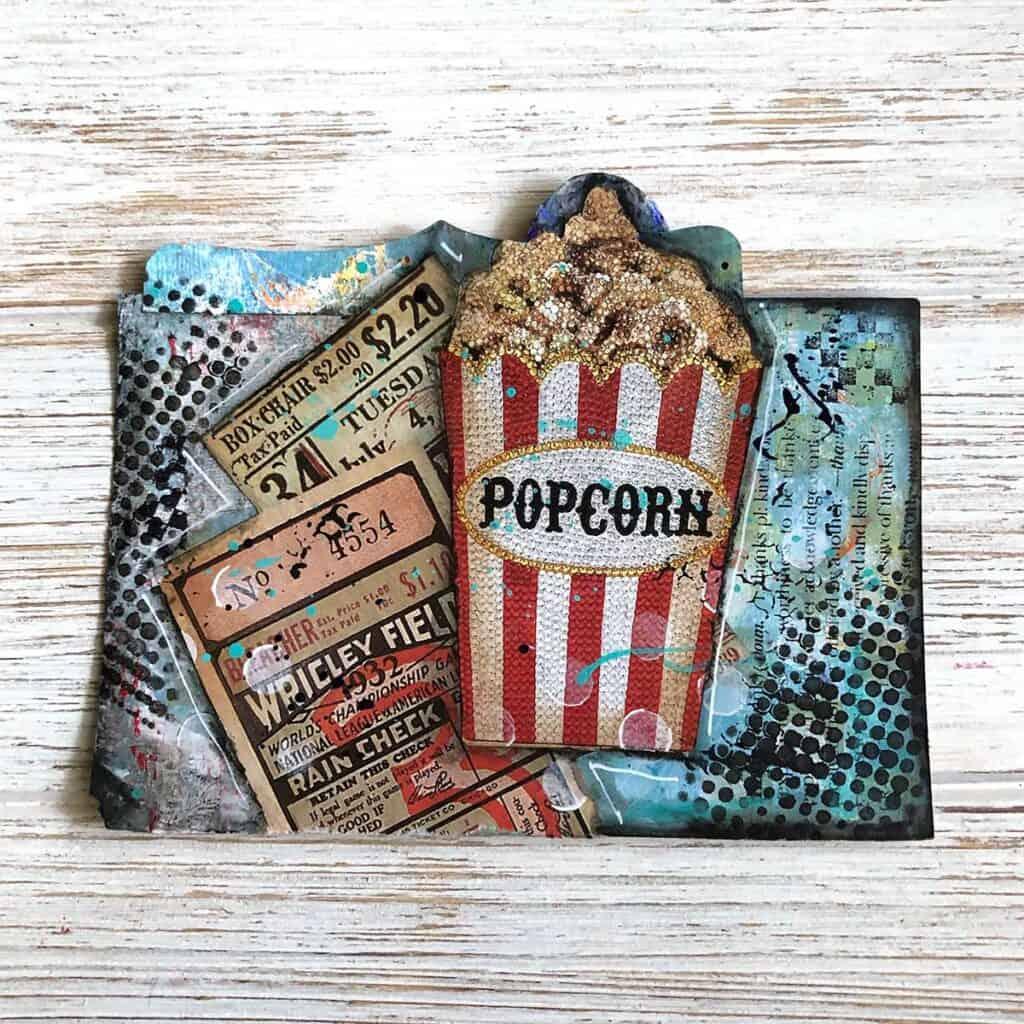 Popcorn Movie Theatre Rolodex Card