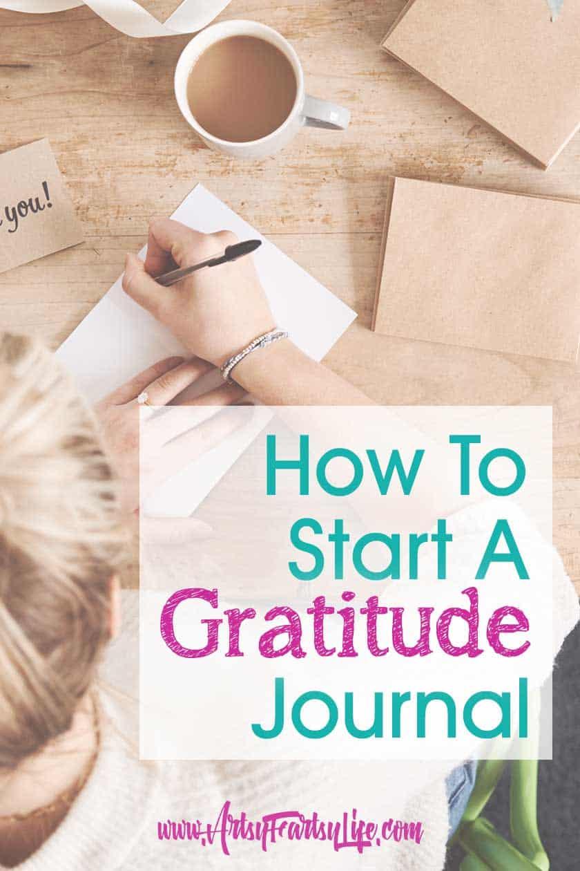 How To Start A New Gratitude Journal