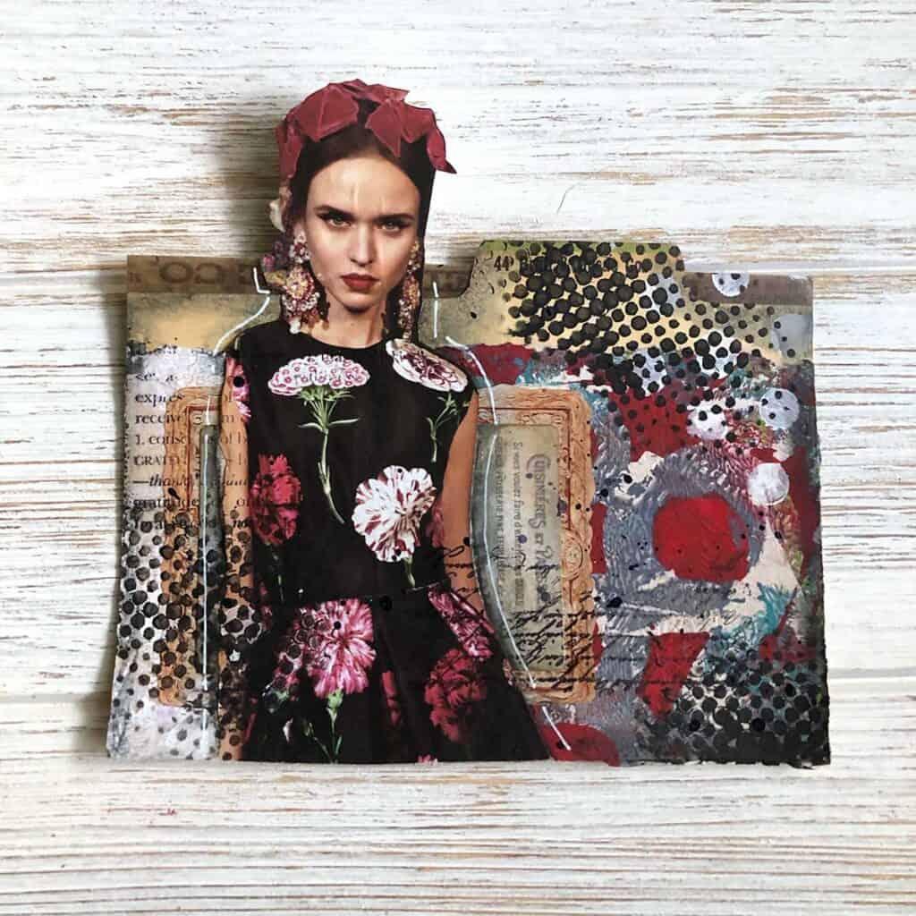Modern Steampunk Frieda Rolodex Card