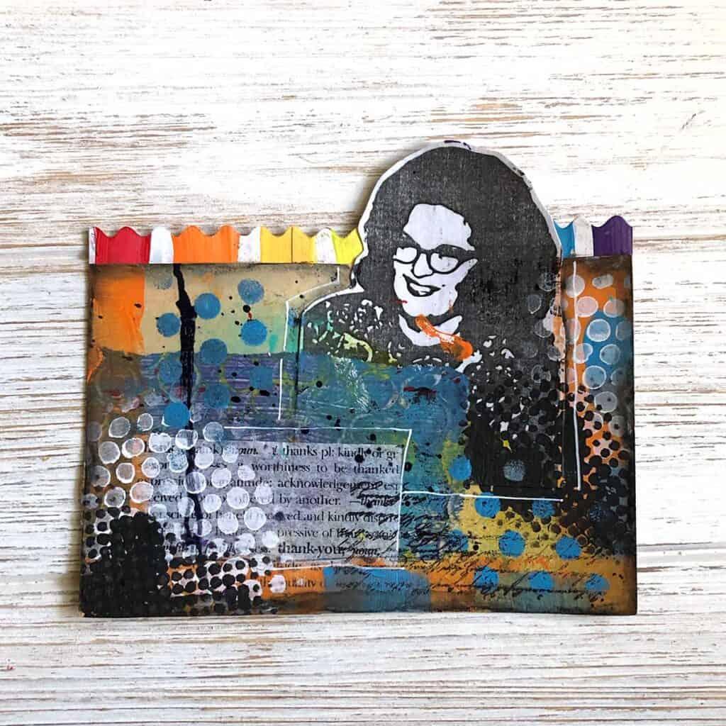 Rainbow Woman Rolodex Card