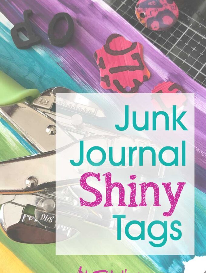 Junk Journal Shiny Tags and Embellishments