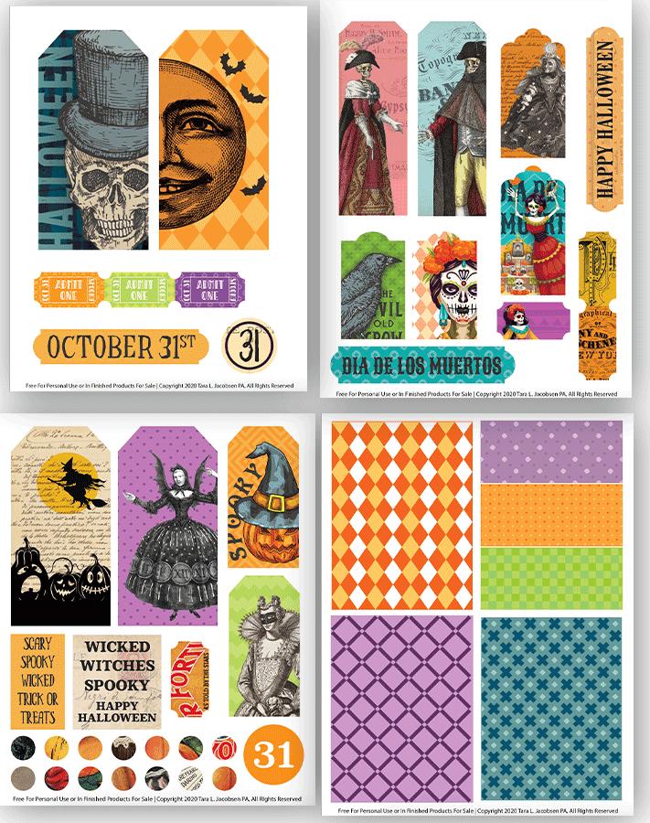 Free Halloween Printable Ephemera - Tags and Tickets