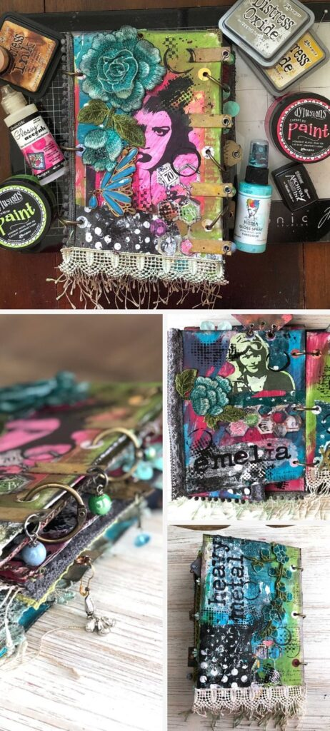 Heavy Metal Junk Journal Mini Album