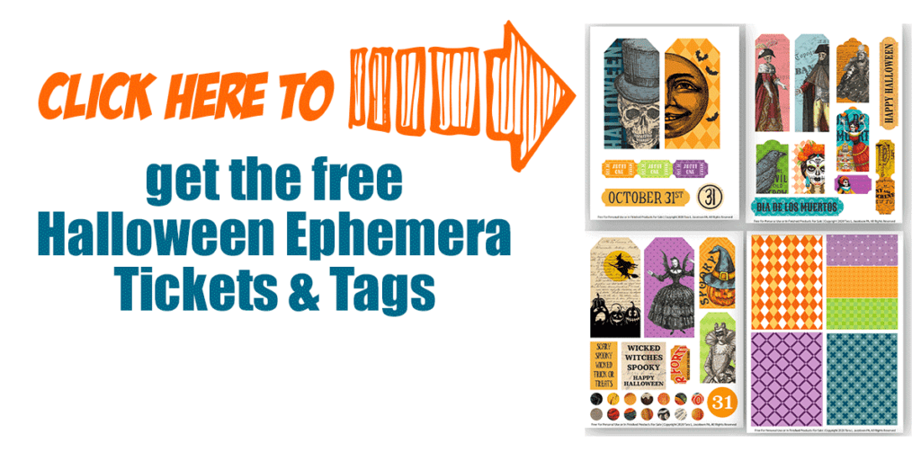 Click here to get the free halloween ephemera tickets and tags