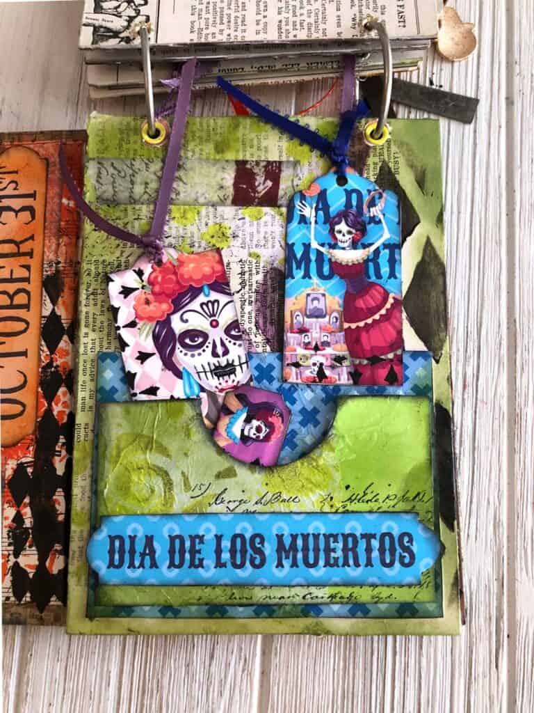 Day of the Dead Halloween Journal Page