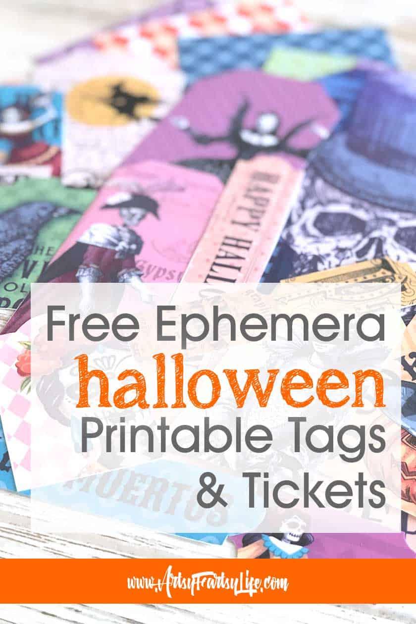 Halloween Tags and Ticket - Free Printable Ephemera