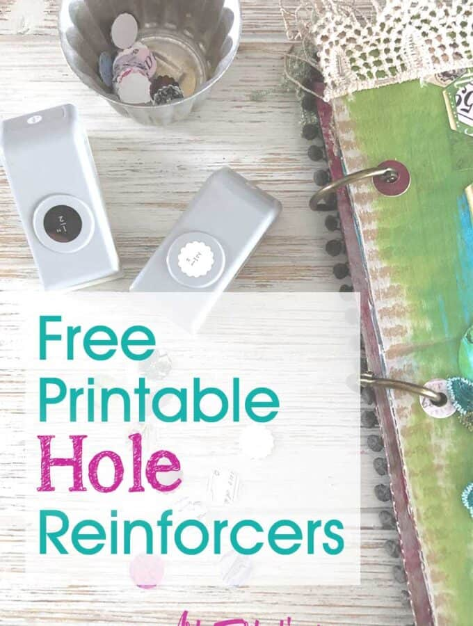 Free Printable Hole Reinforcers For Junk Journals and Binders