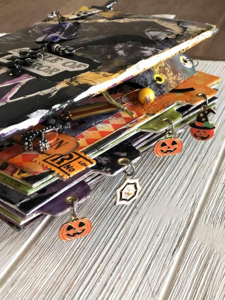 Halloween Pumpkin Dangle Charms - Junk Journal