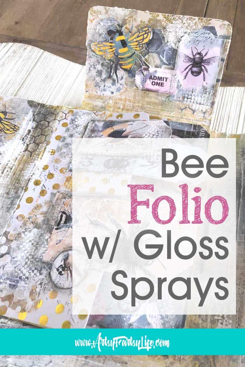 Bumble Bee Folio Mini Album With Gloss Sprays