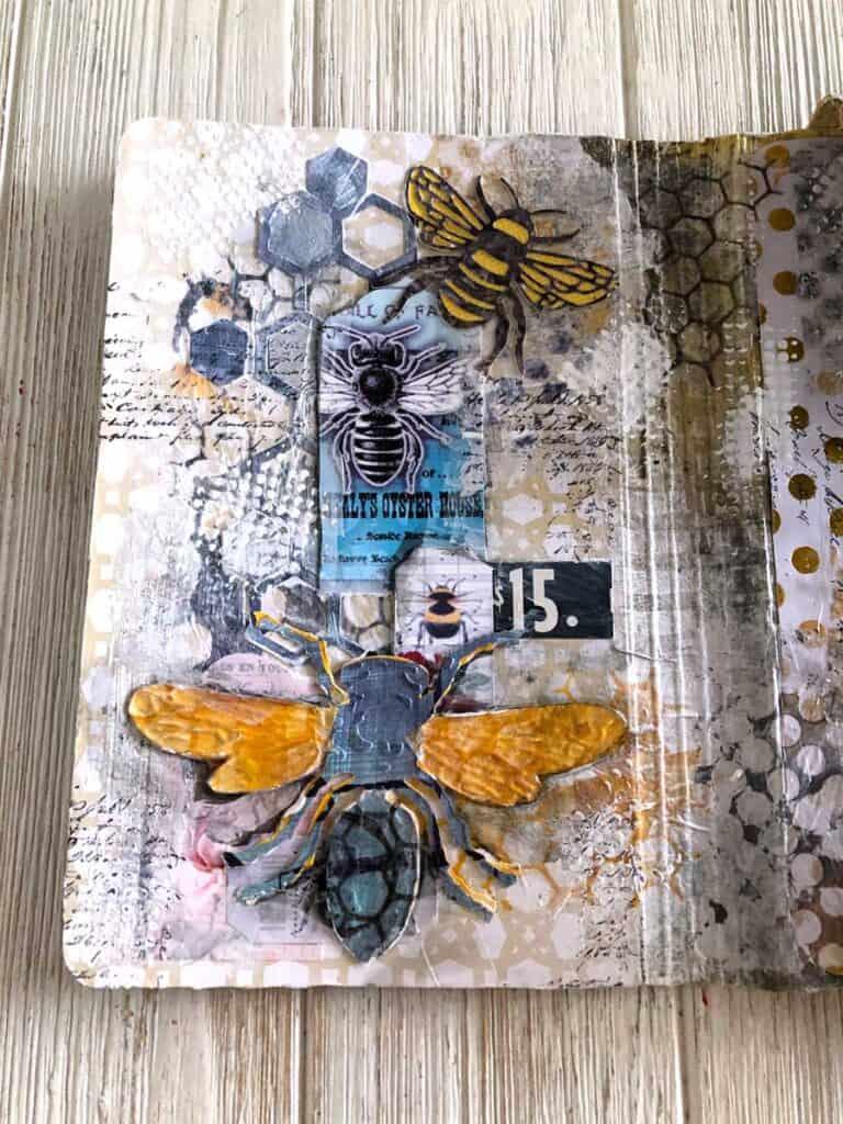 Bee Folio Inside Flap - Die Cut Bees, Bee Ephemera and Bee Hives