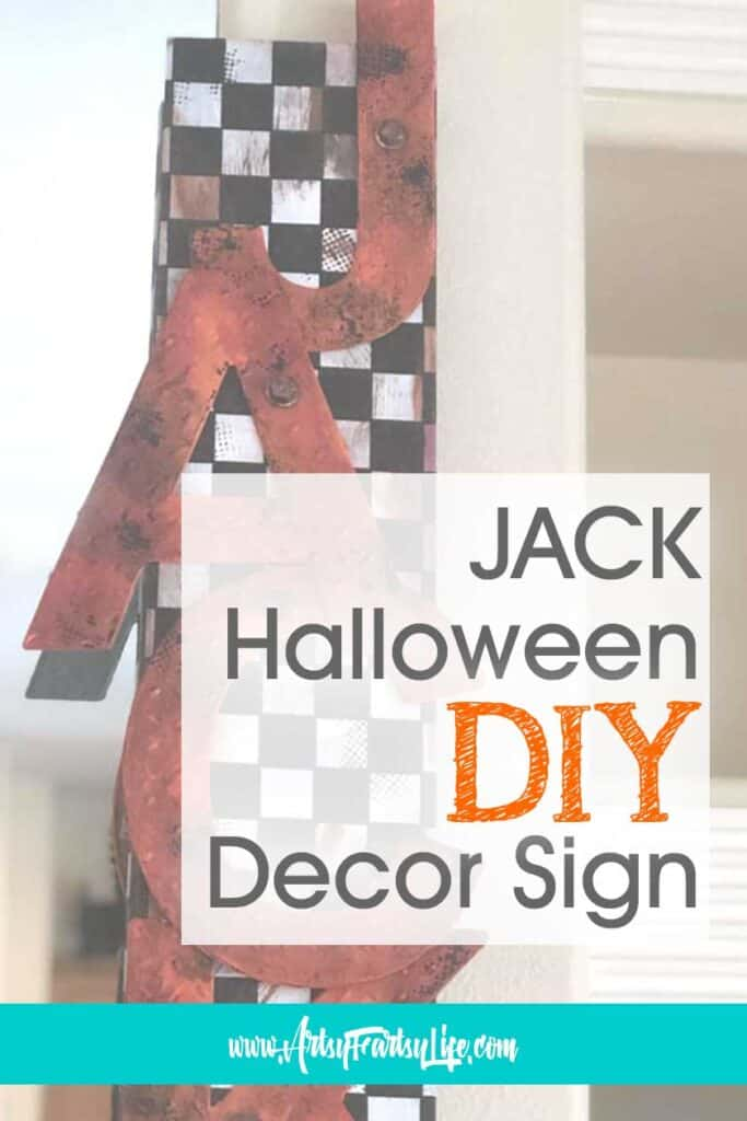 How To Make A JACK Spooky Sign - Halloween DIY Crafts