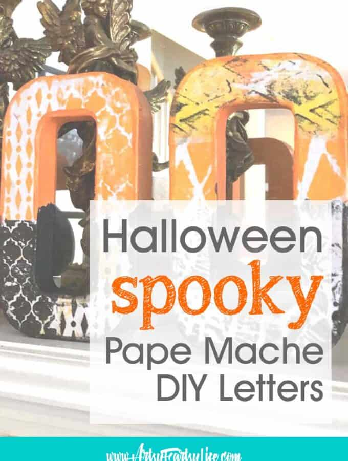 SPOOKY Halloween Paper Mache DIY Decoration