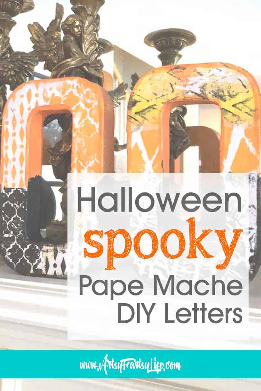SPOOKY Halloween Paper Mache DIY Decoration