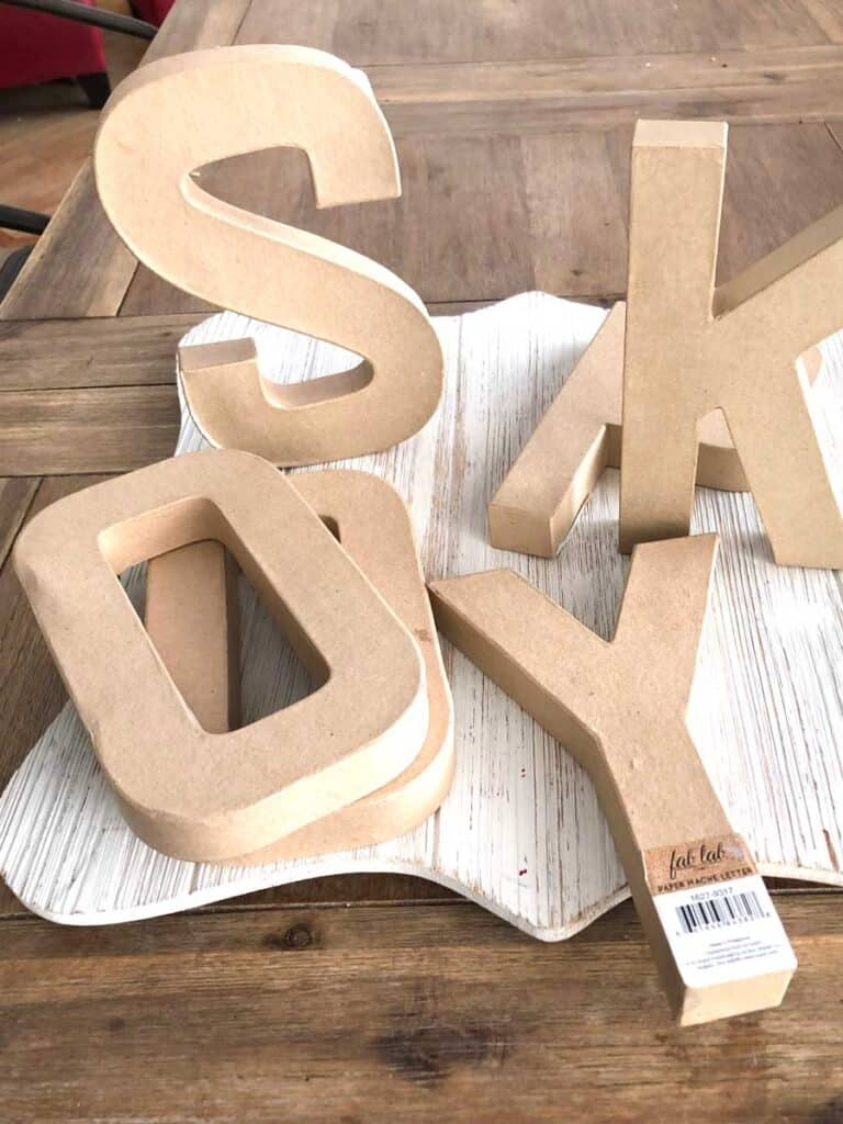 Paper Mache Letters To Spell Out SPOOKY