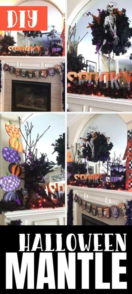 Decorating My Halloween Mantle (Purple and Orange Theme)