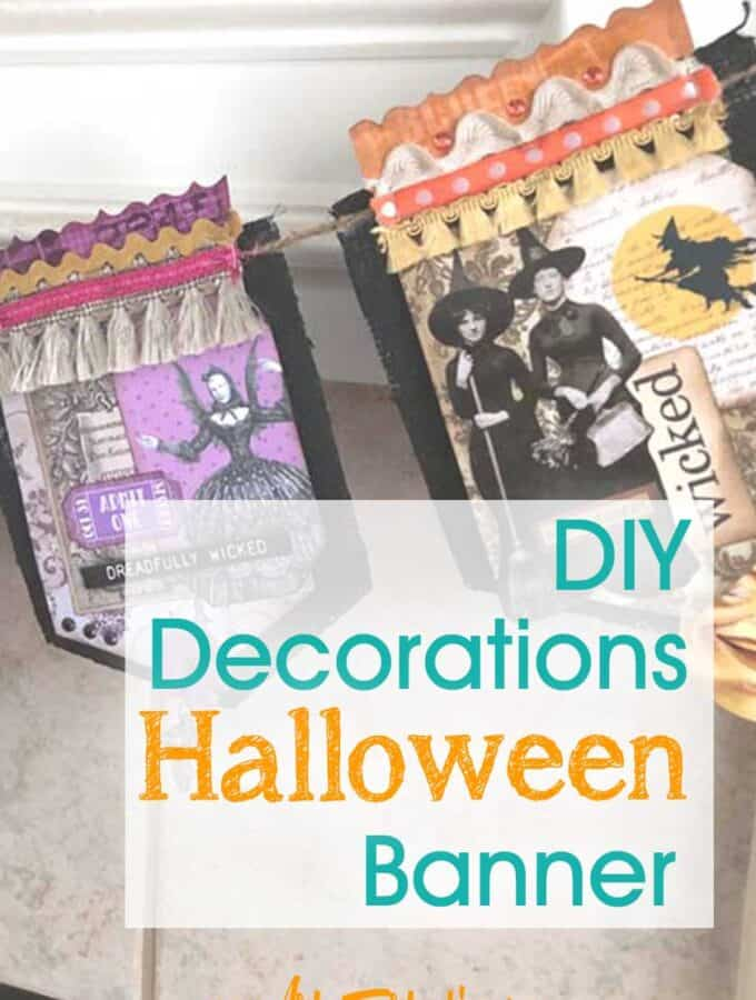 Halloween Banner - DIY Vintage Halloween Decorations