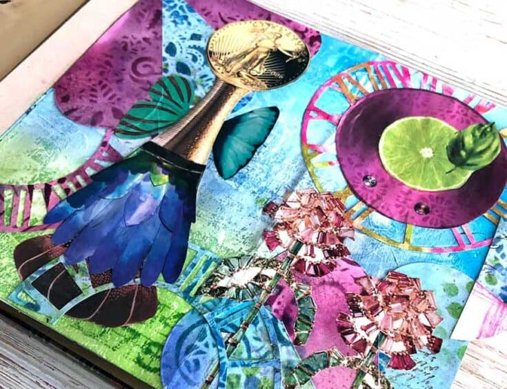 Magazine Collage Challenge - Use Distress Ink Pads