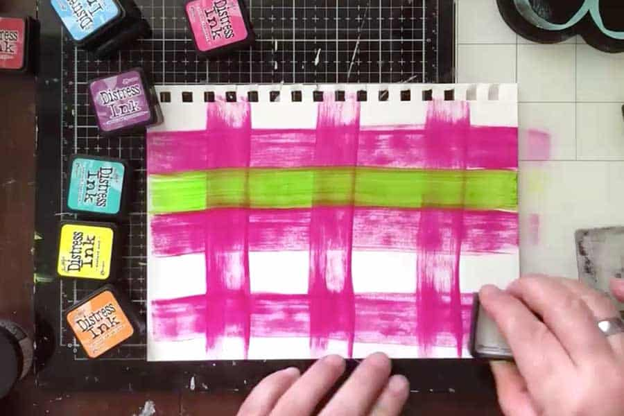 Make patterned background papers for ephemera