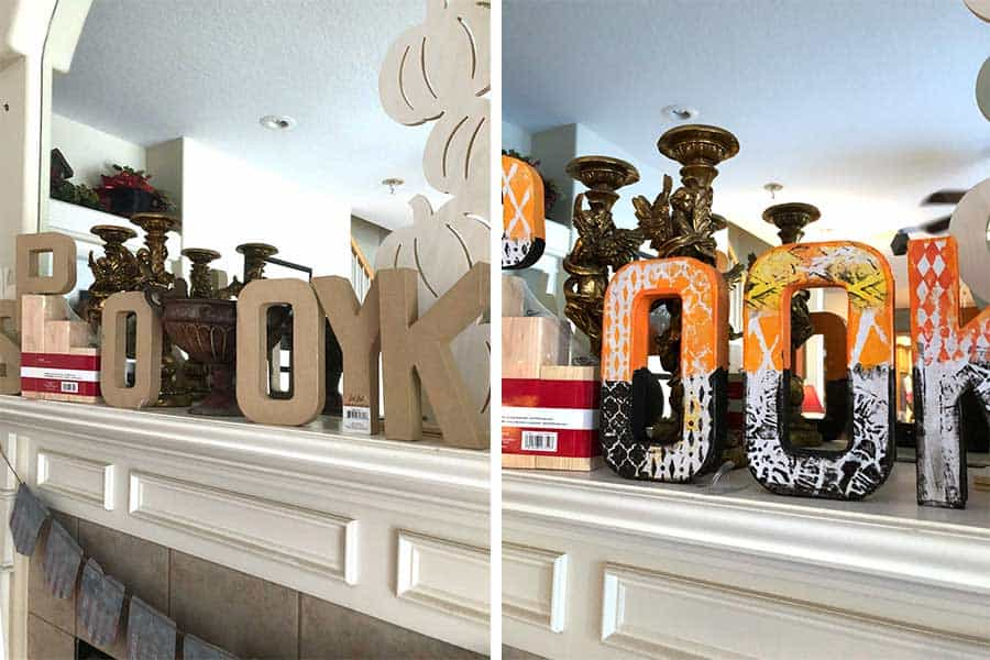 Paper Mache Spooky Letters - Halloween Decor