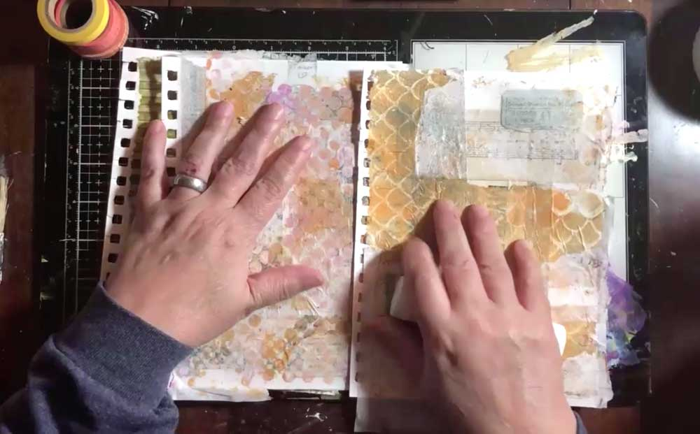 Make some background papers with different patterns and colors
