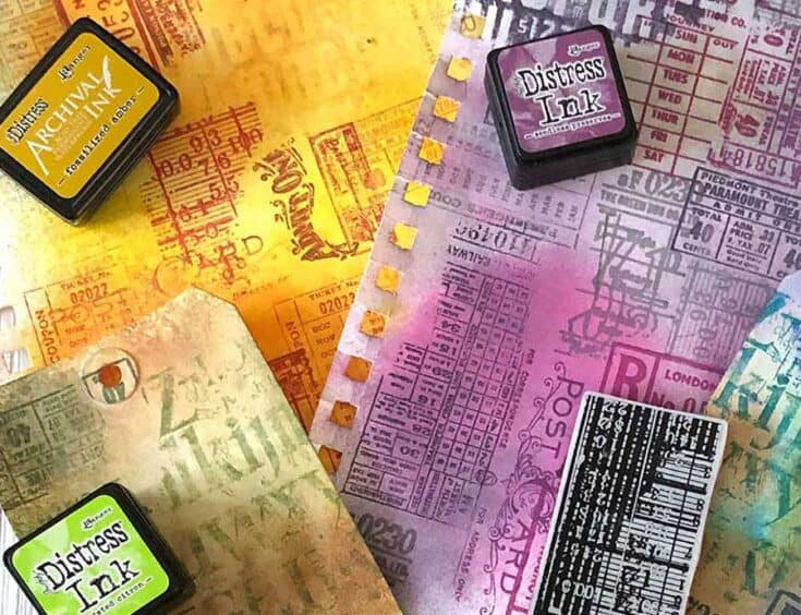 How To Make Backgrounds With Stamps and Inks