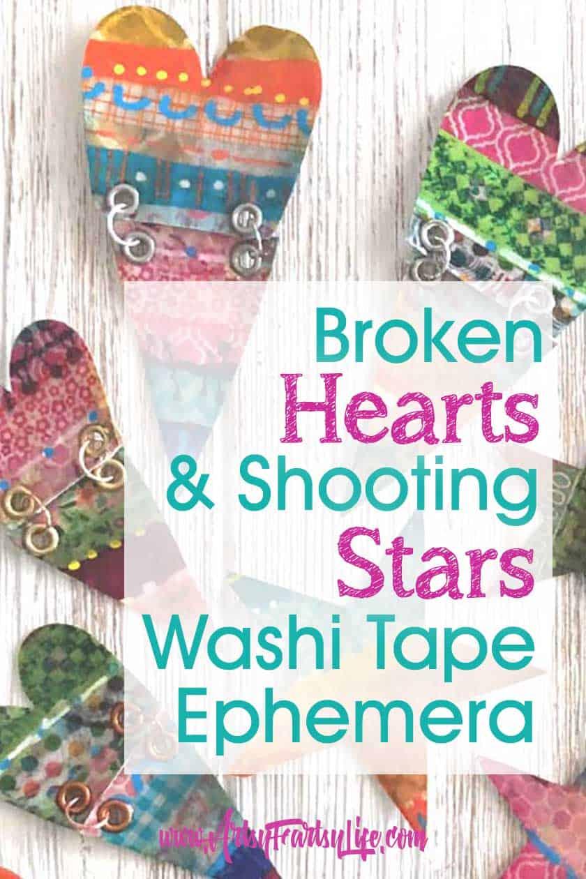 Broken Hearts and Shooting Stars - Washi Tape Ephemera