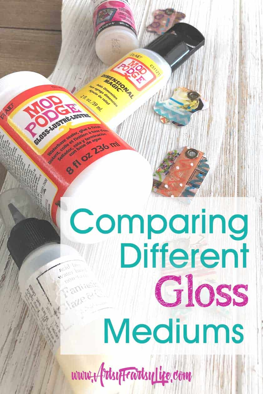 Comparing 4 Different Gloss Mediums
