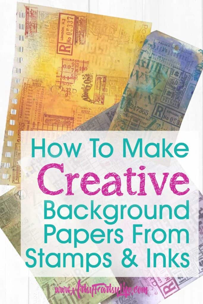 How To Make Backgrounds From Inks and Stamps