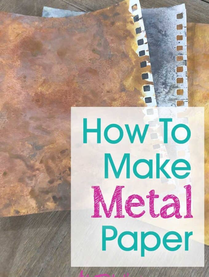 Faux Metal Paper Tutorial