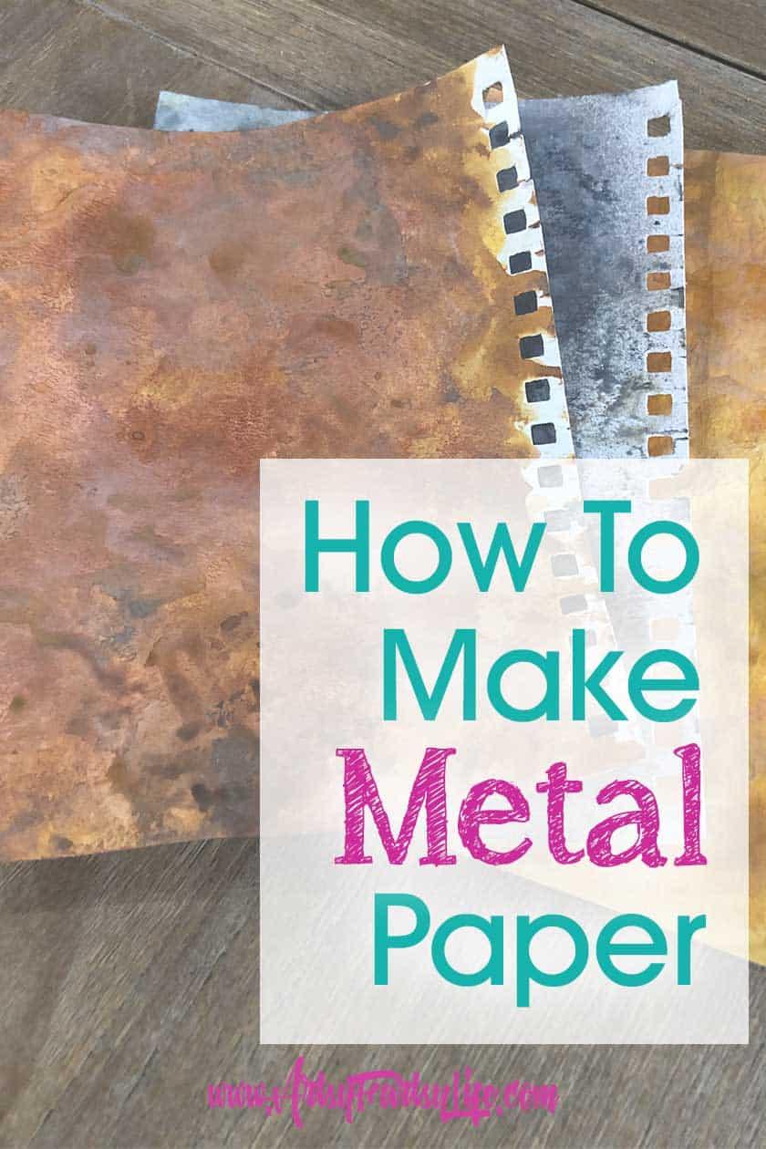 Faux Metal Paper Tutorial
