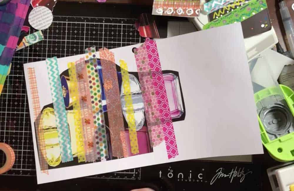 3. Randomly Cover With Washi Tape
