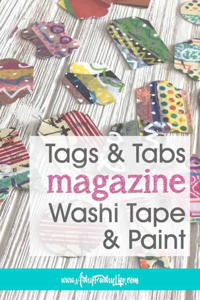 Cheap and Easy Tags and Tabs Using Magazine Pages and Washi Tape