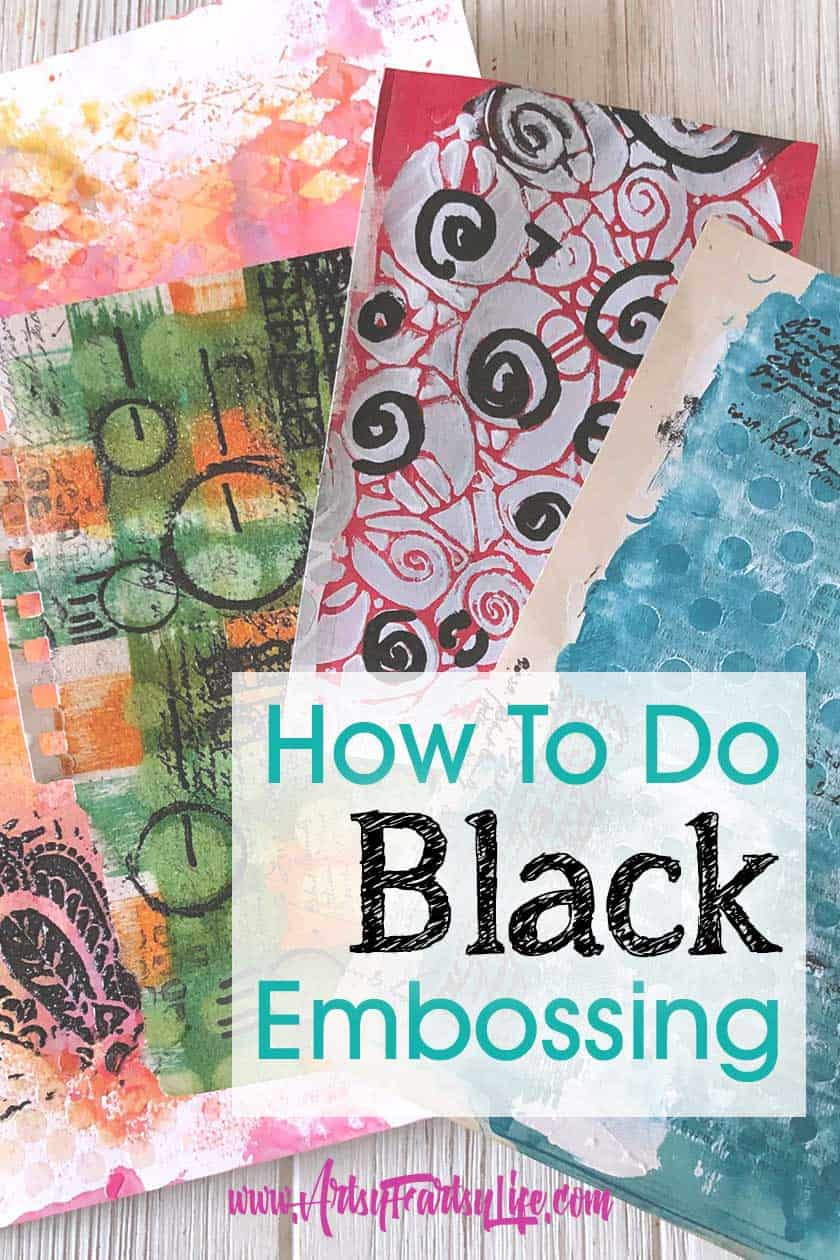 How To Do Black Heat Embossing