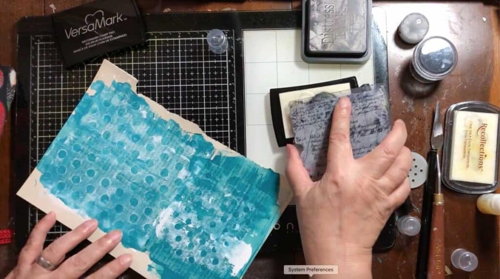 Use embossing ink on a stamp