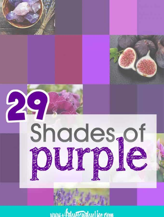 29 Shades of Purple Paint