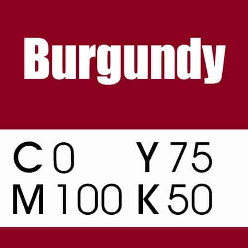 Burgundy CMYK Color
