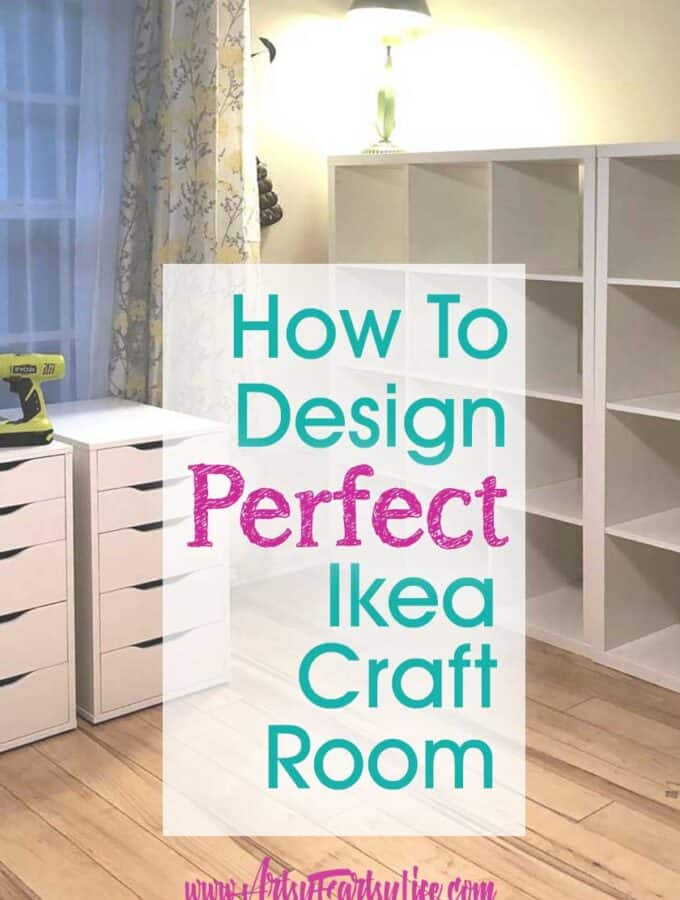Designing My Ikea Kallax and Alex Craft Room