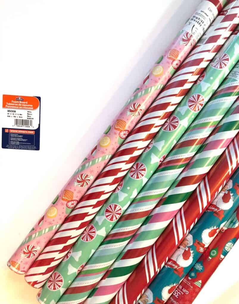 Pick out cool wrapping paper in the colors and patterns that you like!