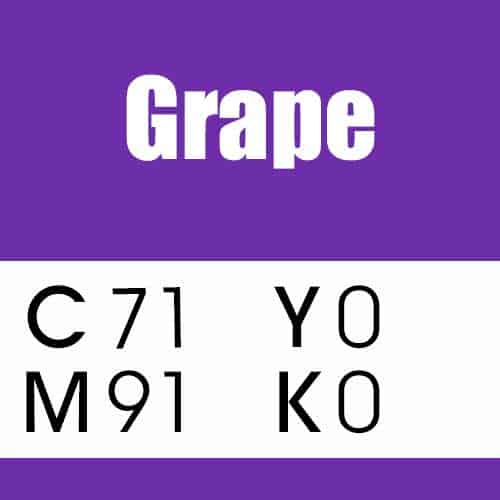 Grape CMYK Color