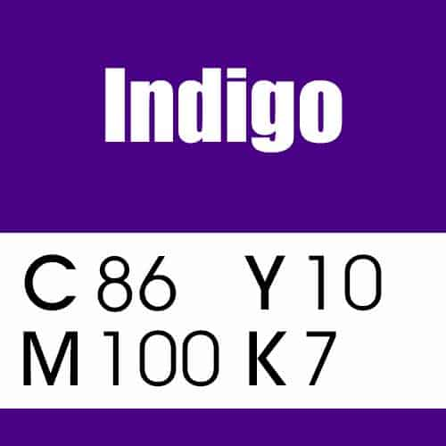 Indigo Purple Color CMYK