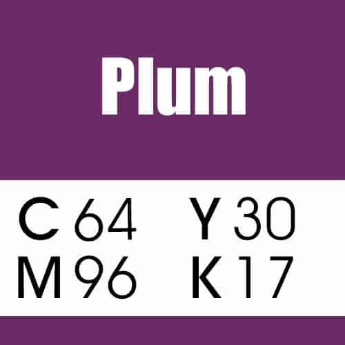 Plum CMYK Purple Color