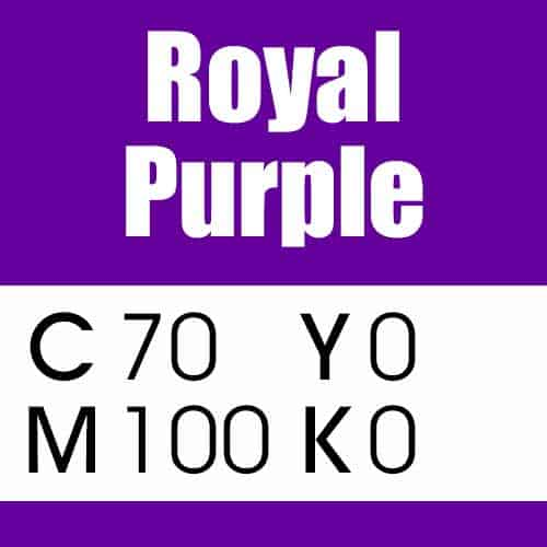 Royal Purple CMYK