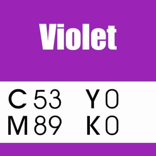 Violet CMYK Color