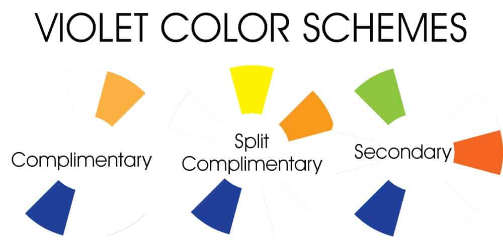 Violet Color Schemes - Complimentary, Split Complimentary, Secondary