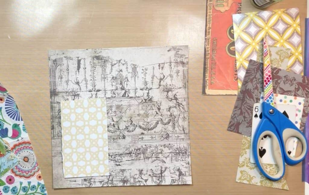 Cover Tuck Spot WIth Scrapbook Paper